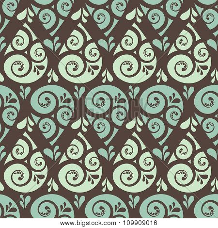 Swirl drop seamless pattern background