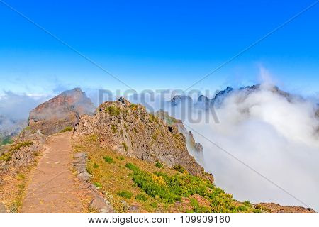 Volcanic Mountain Landscape - Madeira Hiking