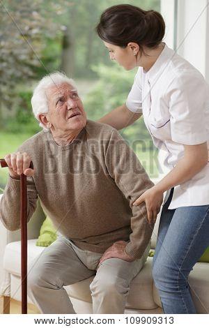 Helping Old Man