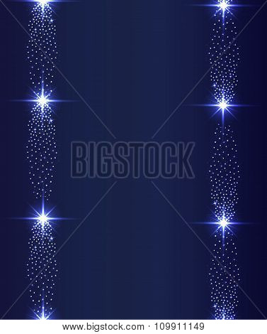 Vector Glowing Stars Ghts And Sparkles