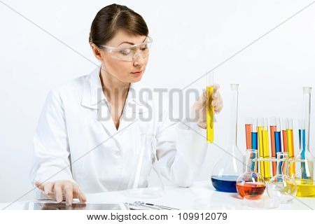 Woman doing a GMO check