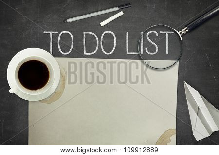 To do list concept on blackboard