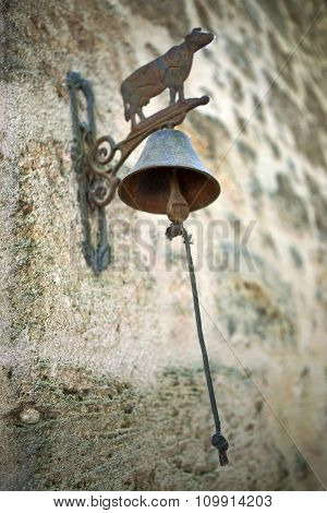 Retro Bell On A Wall