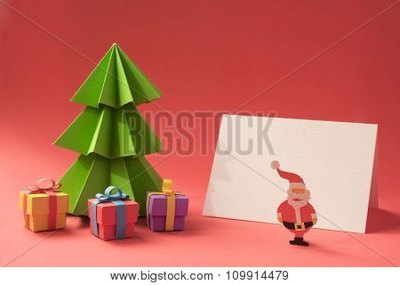 Merry Christmas Paper Cut Handmade Card Template