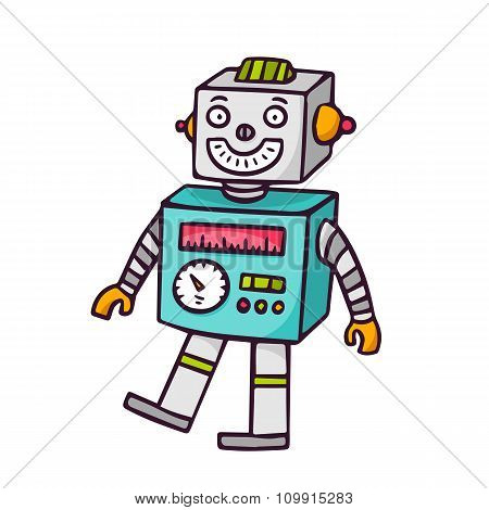 Toy Robot, Isolated On White