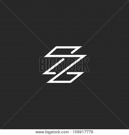 Monogram Letter Z Logo Minimal Style, Weaving Thin Line Template Emblem