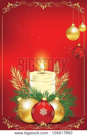 Elegant golden red background for New Year