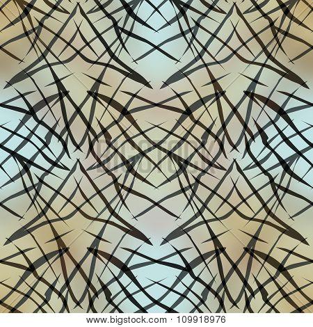 Seamless Abstract Pattern Ornament Geometric Stylish Background