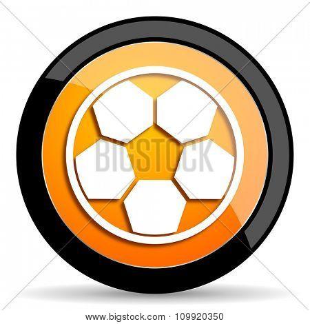 soccer orange icon