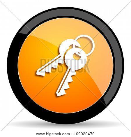 keys orange icon