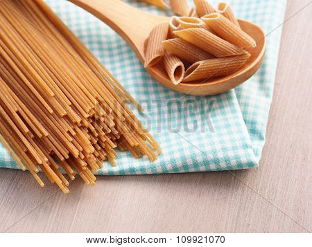 Whole grain pasta assortment