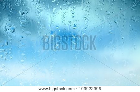 Natural blue water drop background. water drops background
