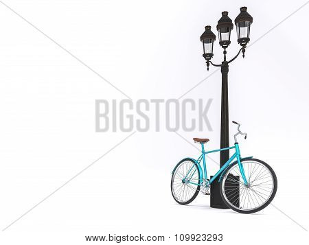 Vintage bicycle and street lamp