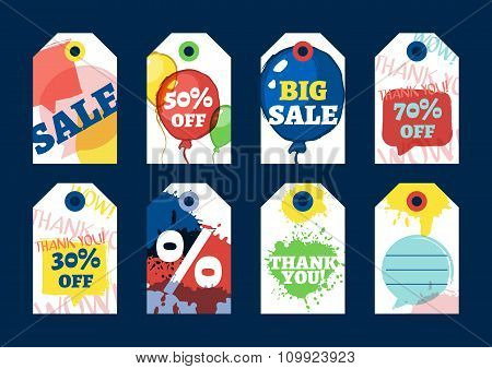 Set Of Vector Sale Or Gift Tags Design.