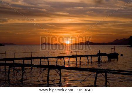 herrlichen Sonnenuntergang