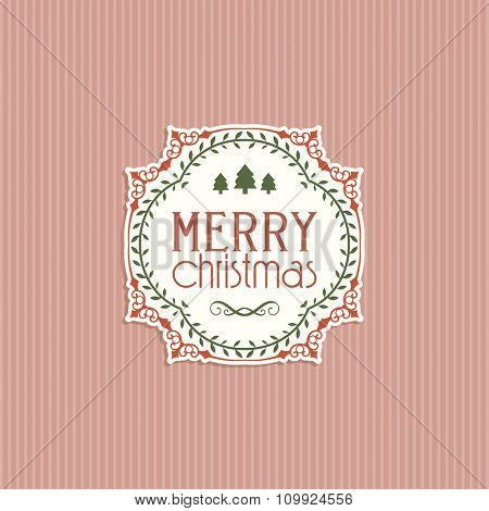 Decorative retro themed Christmas background