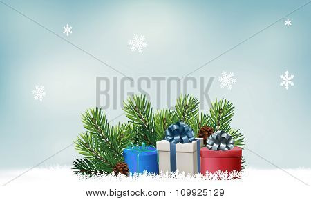Background With Clock And Glass. Vector Illustration
