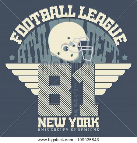 Football Print, sportswear
