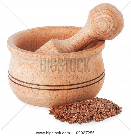 Mortar With Flax Seeds