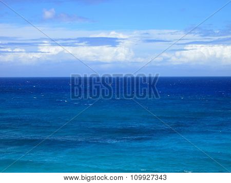 Shallow Wavy Blue Ocean Waters Of Makapu'u