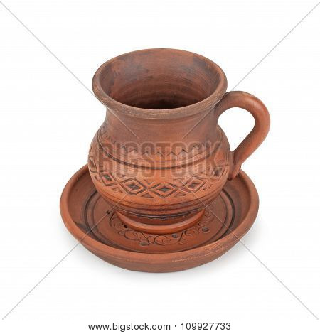 Clay Jug And A Plate Of Handmade