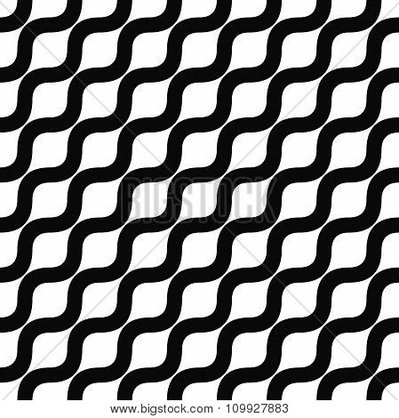 Seamless monochrome angular wave pattern