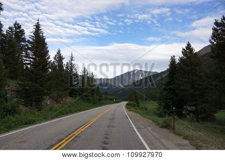 Rocky Mountain Road Through Independence Pass