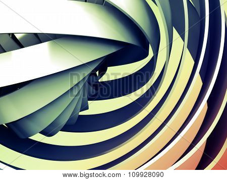 Abstract Colorful Digital Background With 3D Spiral
