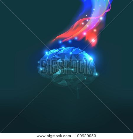Vector Illustration of Headaches with Flames