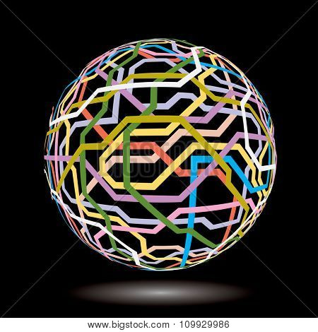vector abstract web globe