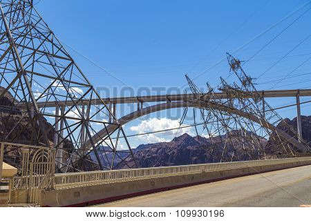 Bypass Bridge Near Hoover Dam, Usa