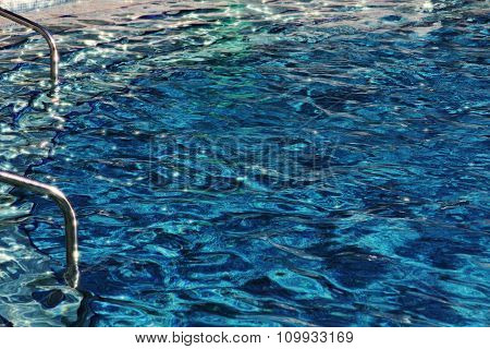 Swimming Pool With Azure Water.