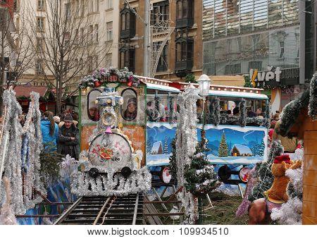 Small Train - Fun For Children At Christmas Market