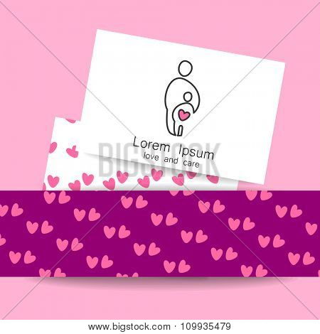Love and care - template logo. Symbols for the social organizations, societies, associations, funds and others.
