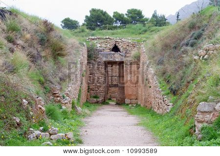 Tholos Tomb Of Aegisthus, Mycenae,