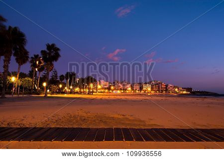 Sunset Beach View In Salou, Spain