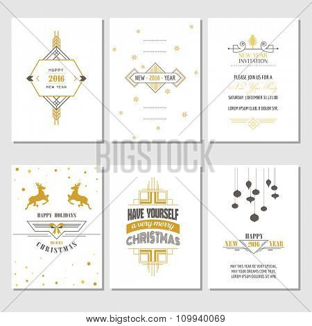 Christmas and New Year Cards - in vector