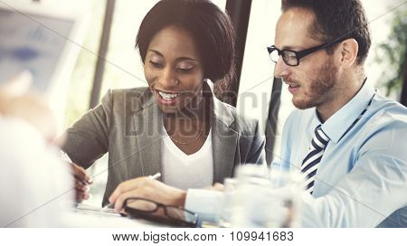 Business People Meeting Corporate Digital Tablet Technology Concept