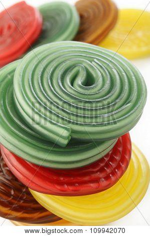 Colorful Liquorice Licorice Spiral Candies