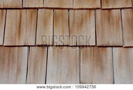 Wood cedar shake siding