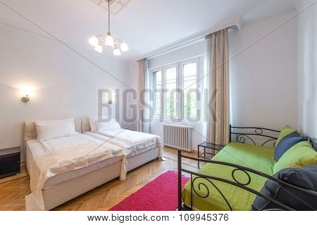 Interior Of Comfortable Hostel Room
