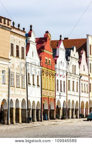 renaissance houses in Telc, Czech Republic