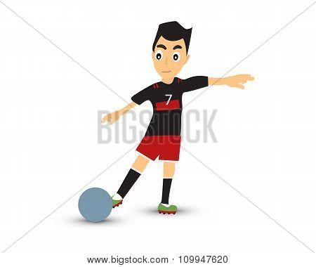 man play soccer