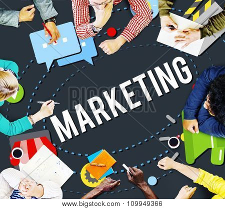 Marketing Strategy Branding Commercial Advertisement Concept