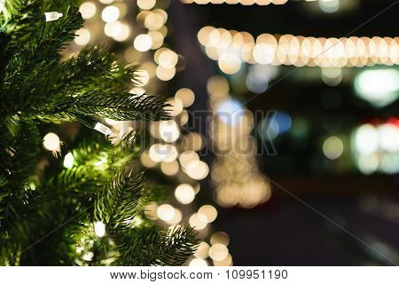 White Lit Christmas Tree