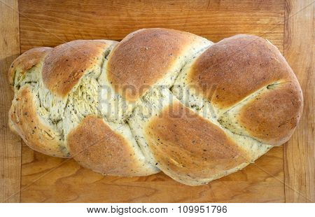 Homemade Braided Garlic-Herb Bread