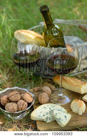 Romantic dinner, outdoors