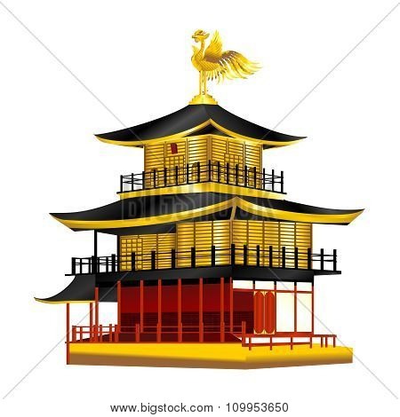 Vector Japanese Golden Pavillion illustration