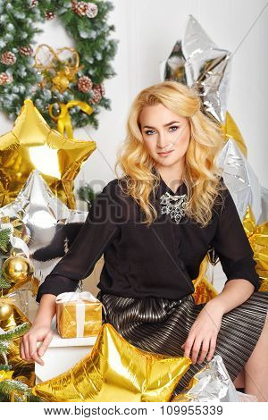 Girl Is Preparing For The New Year 2016