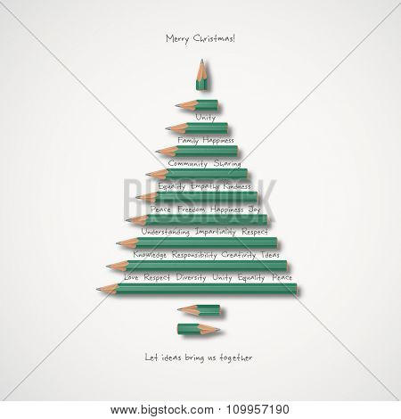 Christmas greeting card- Let ideas bring us together